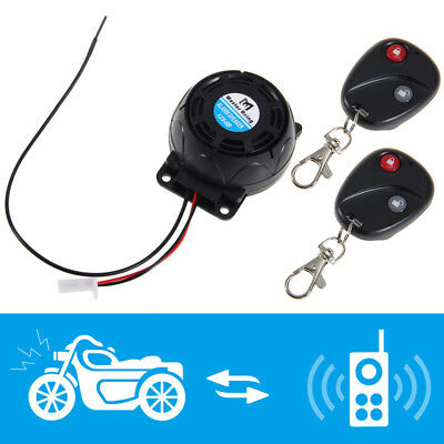 Anti Theft Security Alarm System 2 Remote Control 120-125dB 12V for Motorcycle