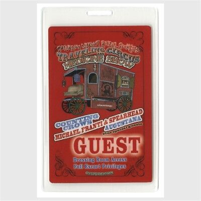 Counting Crows authentic 2009 Laminated Backstage Pass Traveling Circus Tour