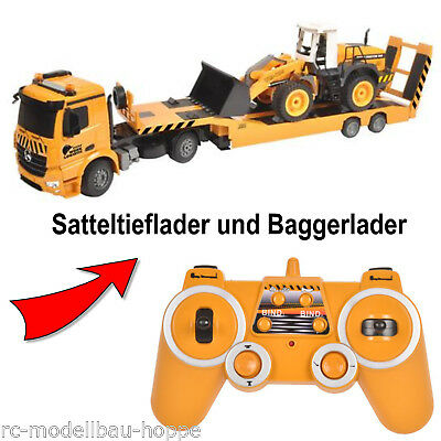 T2M M-B Arocs + semitrailer 2.4 GHz with Backhoe Loaders RC Radio Controlled