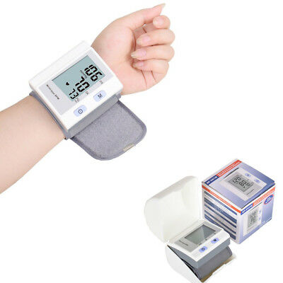 Digital LCD Wrist Blood Pressure Monitor Heart Beat Rate Pulse Meter Measure New