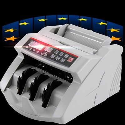 Money Bill Cash Counter Bank Machine Currency Counting Uv & Mg  Us/eu