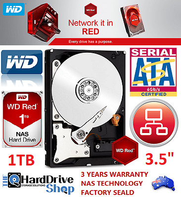 AC Western Digital WD Red 1TB SATA Internal NAS Hard Drive WD10EFRX 3YR Warranty