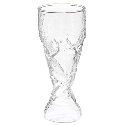 Clear 300ml Creative World Cup Design Glass Wine Beer Cup for Bar Party L6O P5G7