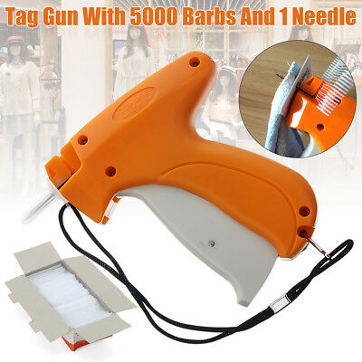 Clothes Garment Price Label Tagging Tag Gun Machine+ 5000 Barbs+ 1 Steel Needle