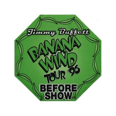 Jimmy Buffett authentic Before Show 1996 tour Backstage Pass