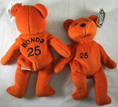 Salvino Bammer's Plush Beanie BEAR MLB Barry Bonds Orange