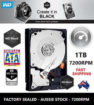 "Western Digital WD Black 1TB 3.5"" SATA Internal Hard Drive 7200RPM HDD Brand New"