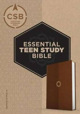 CSB Essential Teen Study Bible, Walnut Leathertouch by B&H Publishing Group...