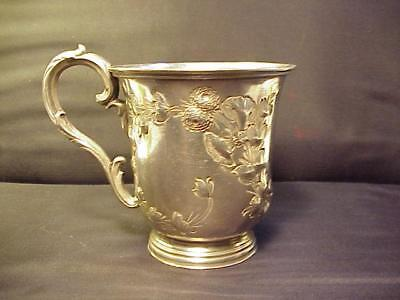 "HOOD & TOBY Antique Sterling Silver Christening Cup Engraved ""Marion"" 1845-1854"