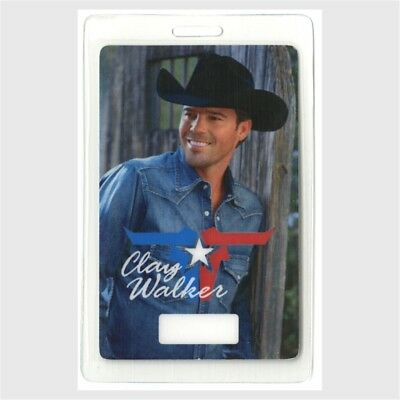 Clay Walker authentic concert tour Laminated Backstage Pass rare HTF country