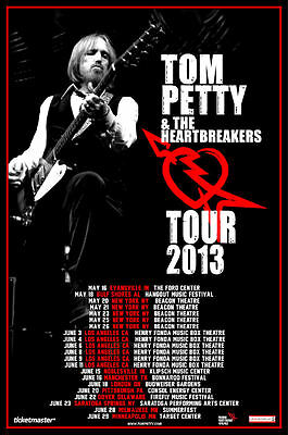 Tom Petty 2013 box office CONCERT POSTER USA / Canada Tour