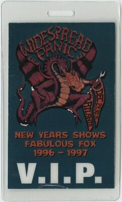 Widespread Panic authentic New Years Shows Fox Theatre Laminated Backstage Pass