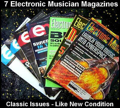 Electronic Musician Magazine Lot - 7 issues - Keyboards/synths etc 2001 + 2009