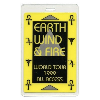 Earth, Wind & Fire authentic 1999 concert tour Laminated Backstage Pass