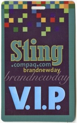 Sting authentic 2000 concert Laminated Backstage Pass Brand New Tour Police VIP
