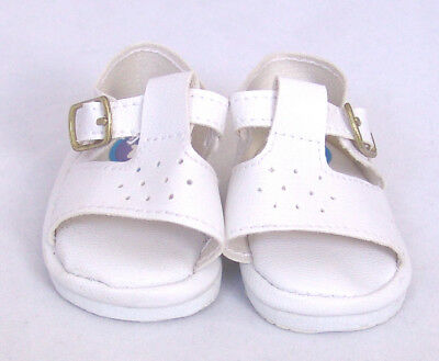 White Sandals Doll Shoes 4 Baby Alive / Baby Born / Baby Born Sister