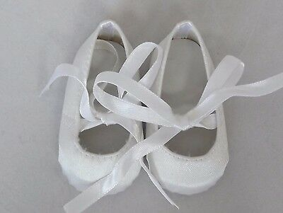 White Ballet Doll Shoes 4 Baby Alive / Baby Born / Baby Born Sister