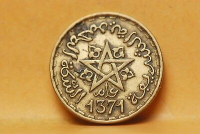 Morocco, AH1371 10 Francs, Y49, Very Fine, cleaned, NR                       410