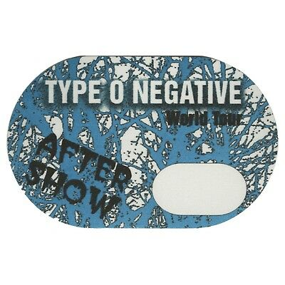 Type O Negative authentic Aftershow tour Backstage Pass
