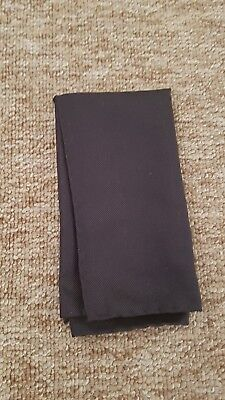 Hackett Dark Grey Silk Pocket Square