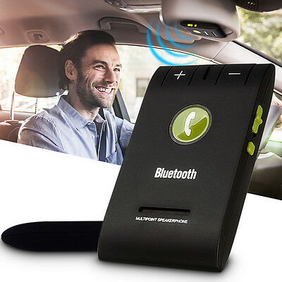 In Car Kit Visor Clip Slim Magnetic Wireless Bluetooth Hands Free Speakerphone