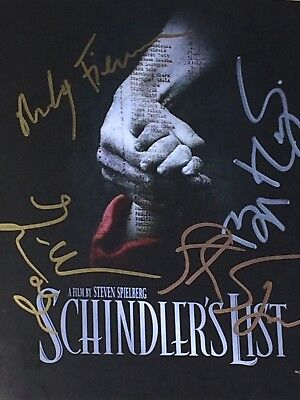 Schindlers List Inlay Signed By Steven Spielberg, Fiennes, Kinsley, Neeson