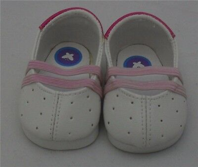 White/Pink Dress Doll Shoes 4 Baby Alive / Baby Born / Baby Born Sister