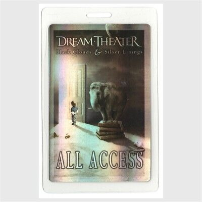 Dream Theater 2009 Laminated Backstage Pass Black Clouds Silver Linings Tour