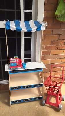 Childrens Kids Toy Play Shop With FREE Register And Trolley