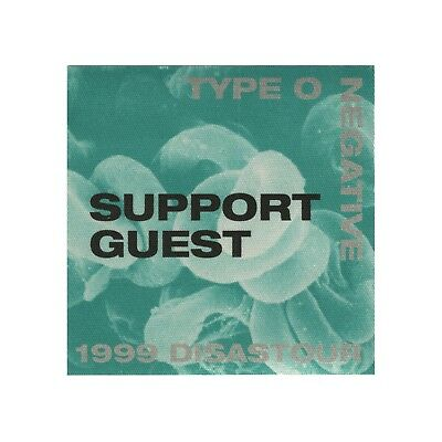 Type O Negative authentic Support Guest 1999 tour Backstage Pass