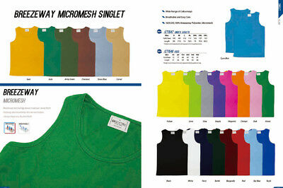 Bocini Unisex Kids Boys Girls Plain Colour Micromesh Casual Sports Singlet Top