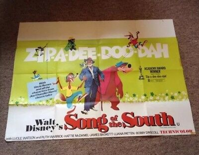 Disney's Song of the South (1973) UK Quad