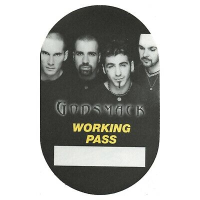 Godsmack authentic Working 1999 tour Backstage Pass