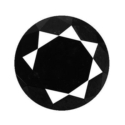 2.00Ct AMAZING RAREST STUNNING 100% NATURAL BLACK DIAMOND