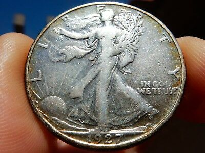 1927-s Walking Liberty silver half dollar, no problems FREE shipping, NEVER tax!
