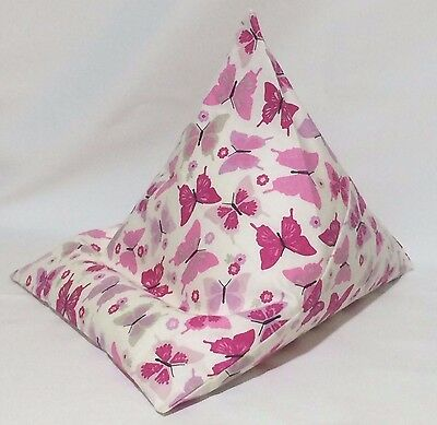 iPad tablet cushion Bean bag stand support for tablets kindle ipad books pink