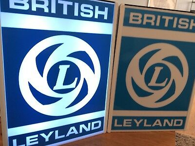 British Leyland Retro Light Box LED SIGN Illuminated Car Mancave garage Freepost