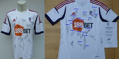 2012-13 Bolton Wanderers Home Shirt Squad Signed with Official COA (11619)