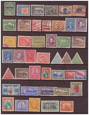 Guatemala 1920 - 1941 used stamps selection