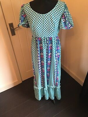 Blue Vintage Gingham And Floral Print Dress Maxi. Marks and Spencer's