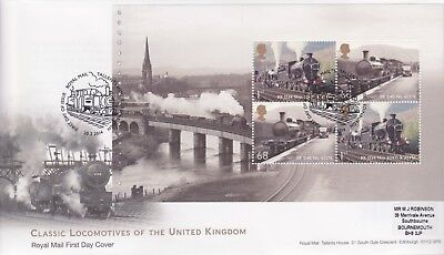 Gb Stamps First Day Cover 2014 Uk Railways 03 Prestige Pane Rare Pmk Collection