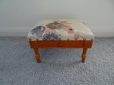 Stool   Foot Stool With Drawer  Wooden