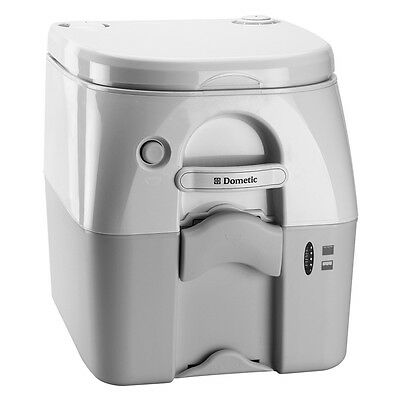 Dometic - SeaLand 975 Portable Toilet 5.0 Gallon - Grey w/Brackets 301097506