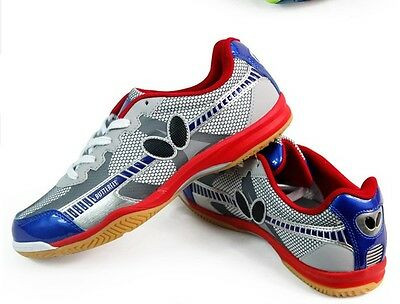 Butterfly Ping Pong/Table Tennis Shoes/Trainers  UTOP-6, Red-Blue, New, UK