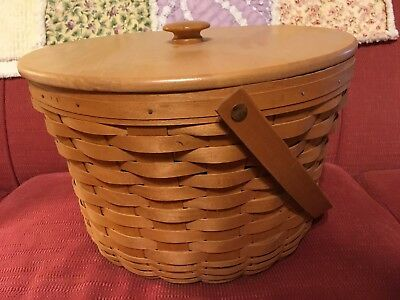 Longerberger large fruit basket with liner and lid
