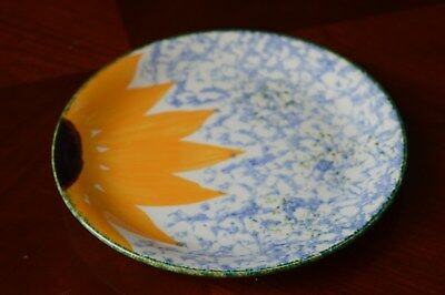Poole pottery Vincent sunflower 7 inch tea plates perfect condition hand painted