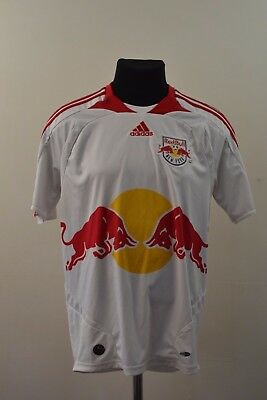 RED BULL NEW YORK 2007 2008 HOME FOOTBALL SHIRT JERSEY Size S SMALL