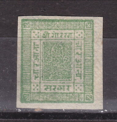 Nepal - 1898 4 A green, on nativ paper, unused (70-153)