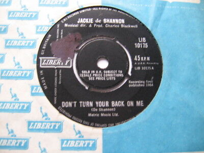 JACKIE de SHANNON - DON'T TURN YOUR BACK ON ME VG