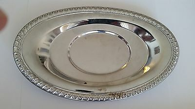 """Irvinware Chrome Plated Candy Dish 9 1/4"""" X 5 3/4"""""""